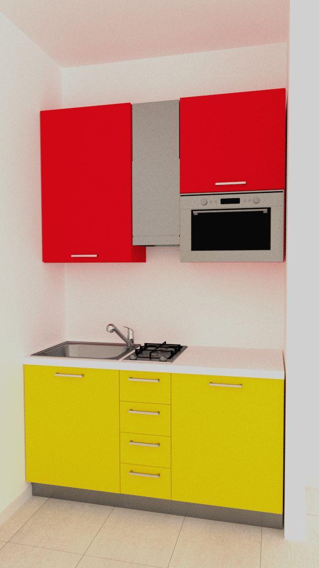 Mini kitchen in 150 cm