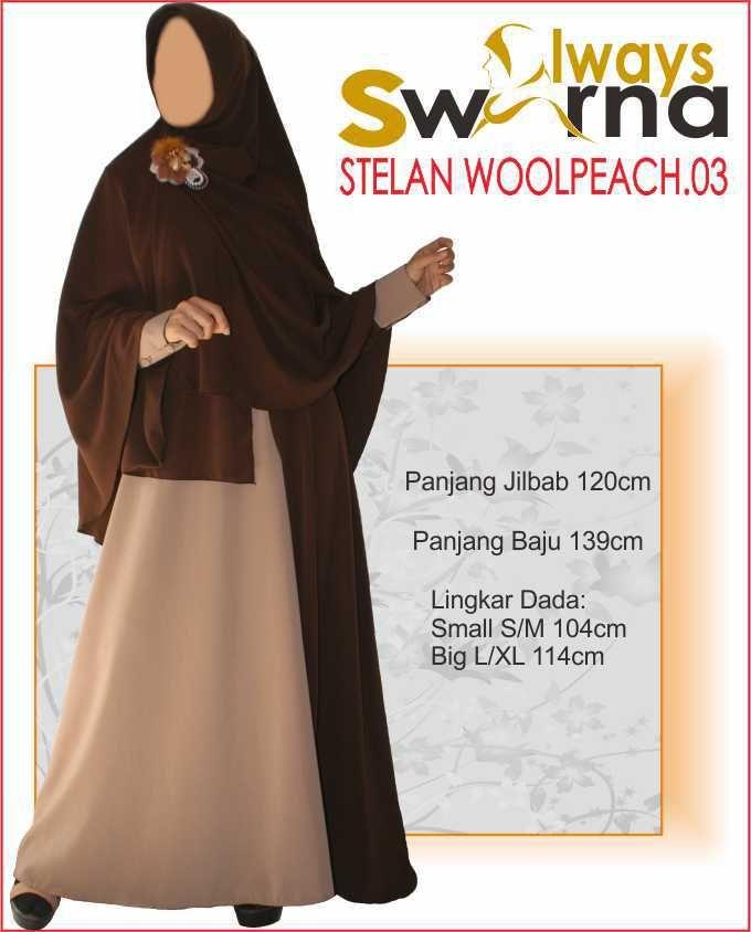 Baju Gamis Wanita Syar'i – Model Busana Muslim- Always Swarna stelan woolpeach.03 – coklat moka