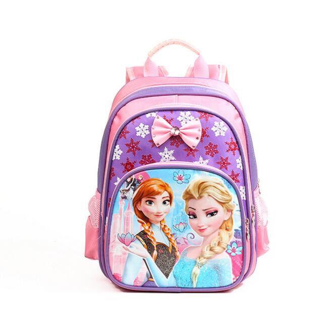Princess Elsa Anna Waterproof Printing School Bags Violetta Backpack Orthopedic Schoolbag For Girls Mochila Escolar