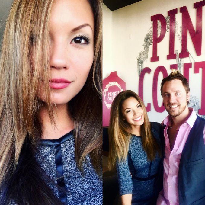 Crystle Lampitt is fall fabulous with her fresh hair color by James!