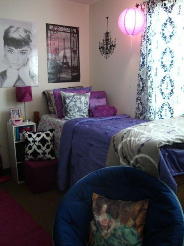 Chambre coucher violet chambre violet et noir deco blanc for Chambre a coucher moderne mauve et blanc