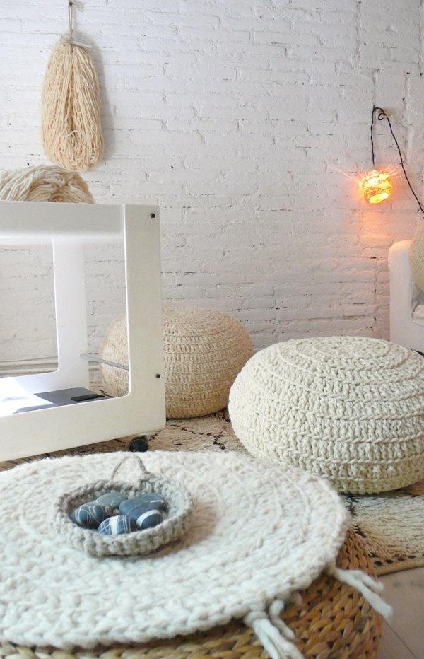 Handspun Wool Yarn - Natural undyed. €10,00, via Etsy ♥