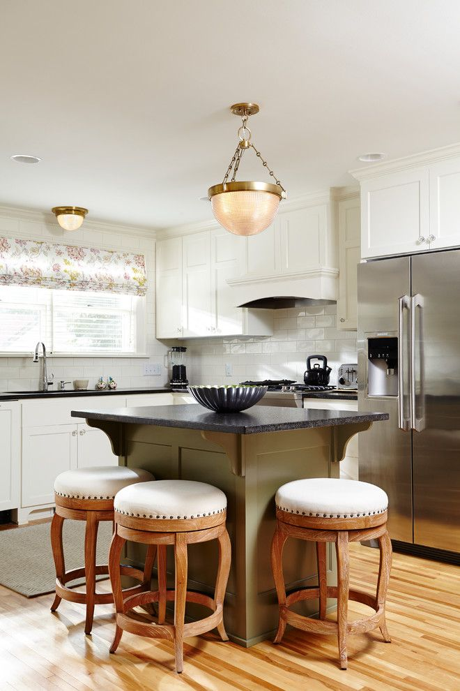 unique small kitchen island ideas wod floor stools hanging lamp traditional room window faucet wall cabinets ceiling lights of Unique Small Kitchen Island Ideas to Try