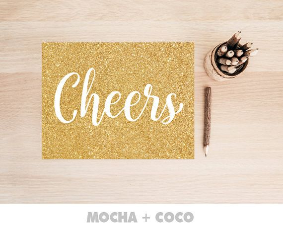 Cheers Celebration Family Poster   Quote Kitchen Placemat, Typography , Kids, Printable Mocha + Coco, Intstant PRINT FILE DOWNLOAD