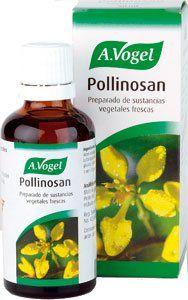 http://www.denatural.es/defensas/pollinosan-50ml  Pollinosan actúa en la fiebre del heno y sus síntomas acompañantes, así como en los resfriados del tipo alérgico.   Al actuar sobre las mucosas de la nariz, garganta, bronquios y ojos mejoran los síntomas de los  estornudos, irritación de la garganta, tos irritativa, así como ardor ocular y lagrimeo.