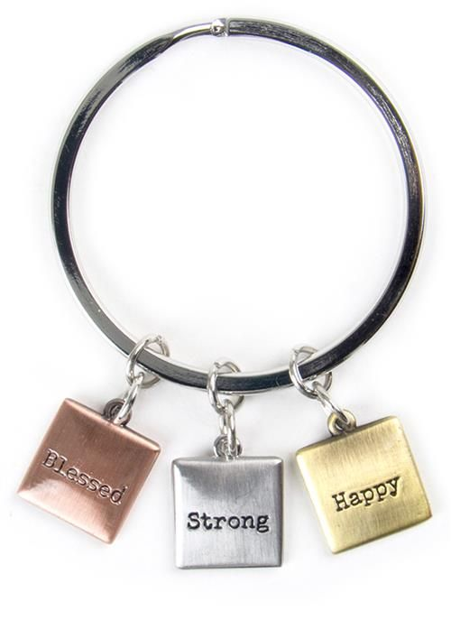 Keyring Happy Strong Blessed