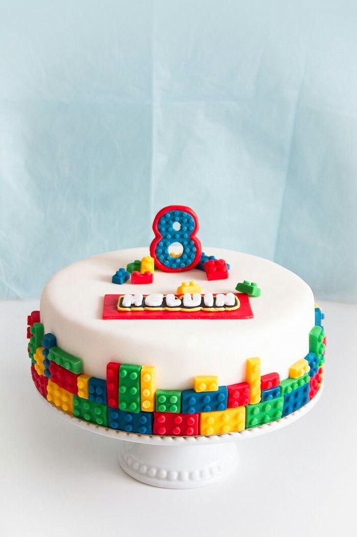 Lego legocake legotårta tårta cake birthday födelsedag kids barn ⭐sockerlinn.se⭐