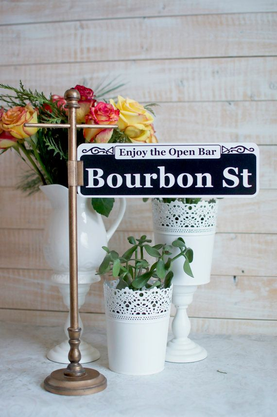 Custom New Orleans Street Sign Table Numbers by CathysCustomPrints