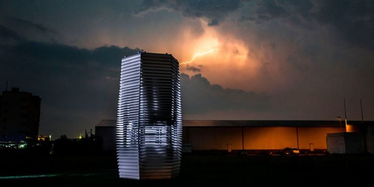 Daan Roosegaarde's Smog Free Towers in Beijing and Tianjin parks use ionisers to suck in pollutants and pump out clean air; now he wants to do the same for individuals riding bicycles by harnessing their pedal power. The sky is