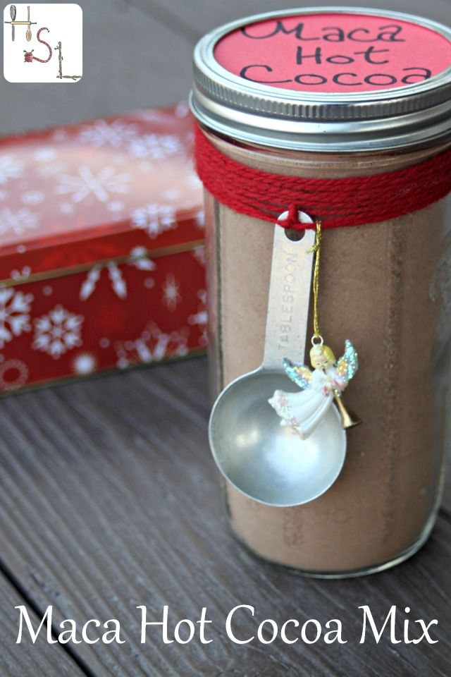 Make some maca hot cocoa mix for a sweet treat you can feel good about drinking and giving away as a gift to friends and family.