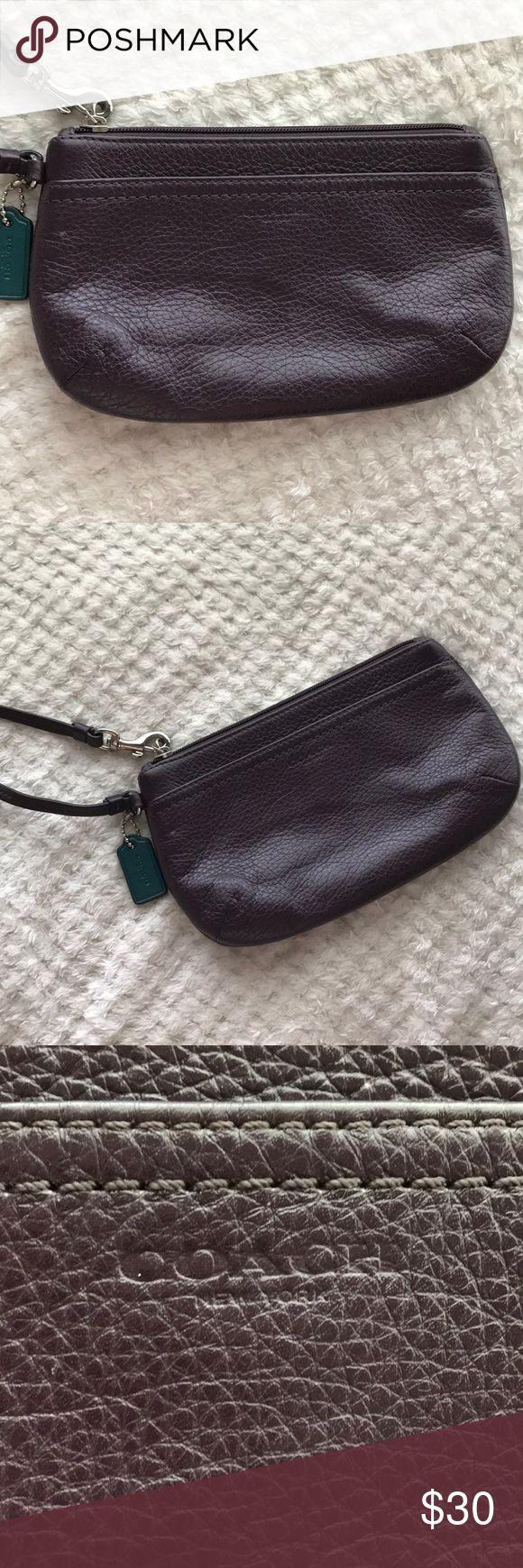 Purple Coach Wristlet Authentic Coach Wristlet  Color: Purple Coach Bags Clutches & Wristlets