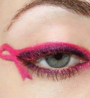 How about a pink ribbon for your eye makeup while at a #The3Day fundraising event? Beautiful!