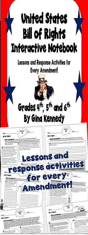 "This resource includes one page for each of the first ten Amendments to the Bill of Rights, with a clear explanation of the bill and several critical thinking follow-up activities. I've also included a handout with Amendments 11-27 and a ""Bill of Rights"" vocabulary list. This is an excellent way to teach students the Bill of Rights! $"