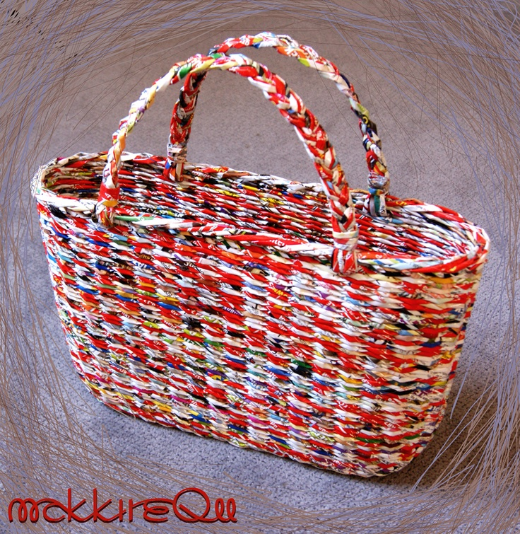 Basket Making Using Recycled Materials : Best images about baskets made from recycled materials
