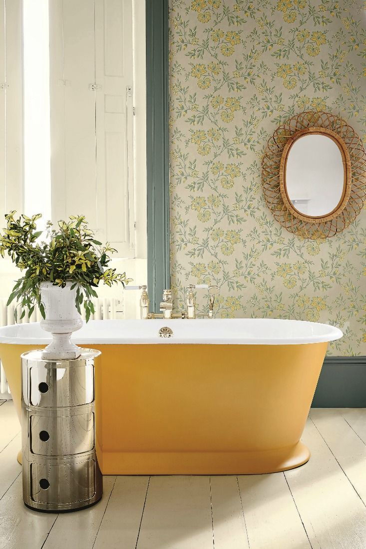 An Elegant, Trailing All Over Wallpaper Design, Inspired By Embroidered  Chintz Cottons, Uses Part 74