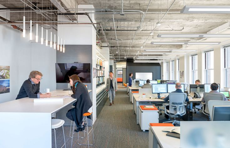 M Moser Associates San Francisco Offices - GM: Huddle and open plan