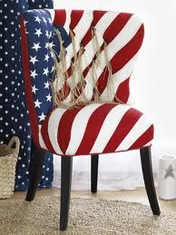 Americana Wingback ChairBlessed America, Red White And Blue Decor, Red White Blu, American Flags, American Decor, Patriots Decor, 4Th, Wingback Chairs, Flags Chairs