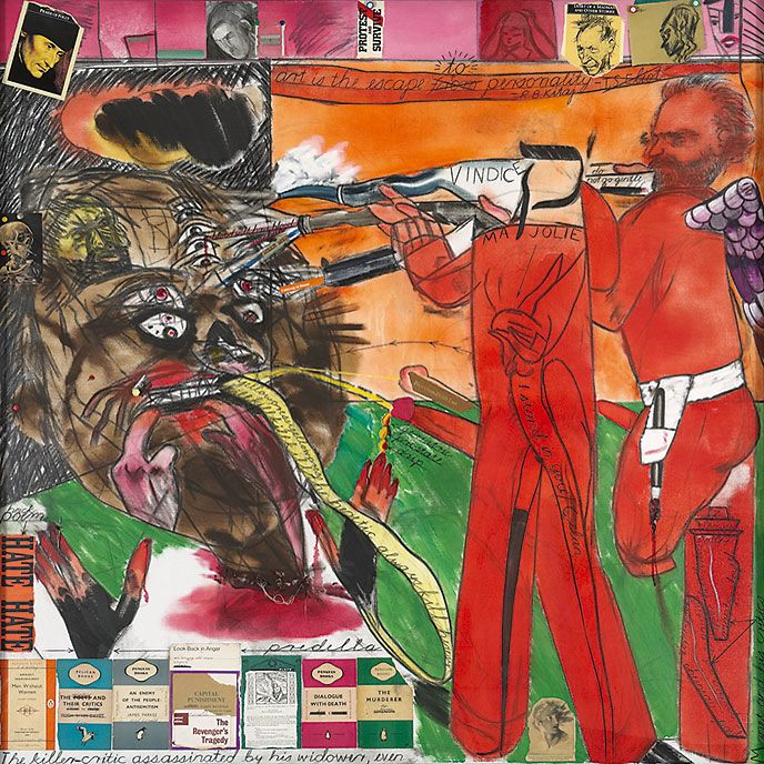 Kitaj, The Killer-Critic assassinated by his Widower