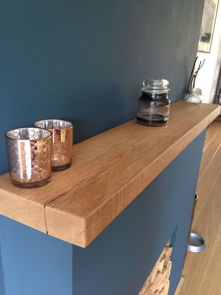 Gareth Used Our 8x2 Oak Floating Shelf As A Mantel Which Stands Out  Beautifully Against The
