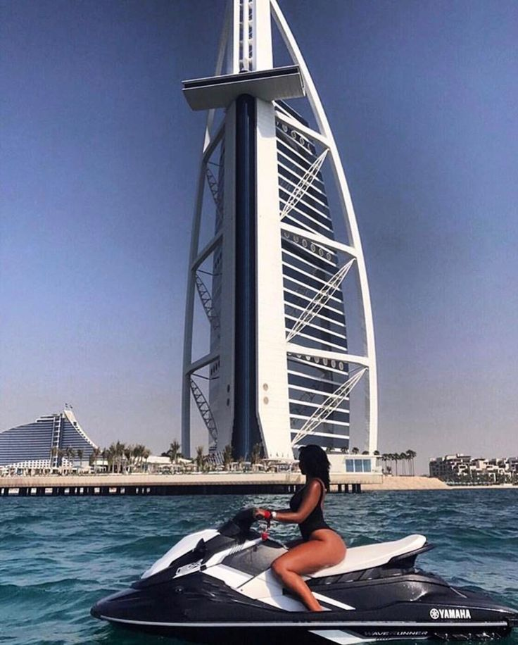 #JetSkiing in front of the world's only 7-Star hotel. #Dubai