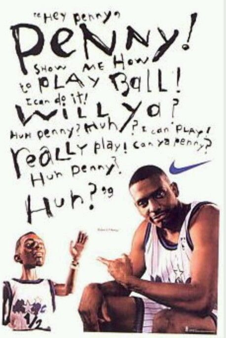 NEW VINTAGE 1995 NIKE ANFERNEE PENNY HARDAWAY LIL' PENNY HEY PENNY POSTER  #Nike #OrlandoMagic