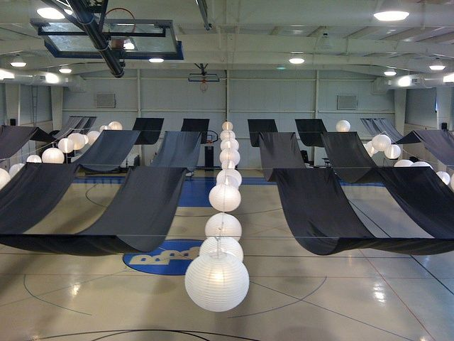 Decorating A Gymnasium Ceiling Idea For Draping The