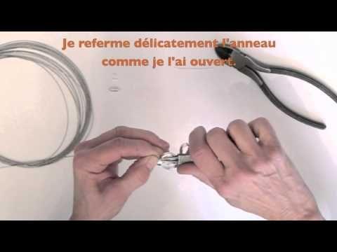 TUTORIEL COLLIER EN FIL DE FER (ALU) Pour ce diy, il faut se munir de pinces (coupante, plate et à bout rond), de fil d'aluminium, de câble à bijoux, de perles, d'une tige cloutée, d'un anneau, d'un fermoir à visser et de deux embouts.