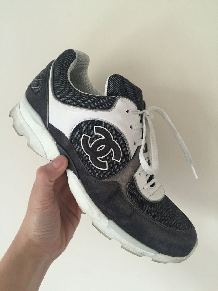 Chanel denim trainers  #chanel