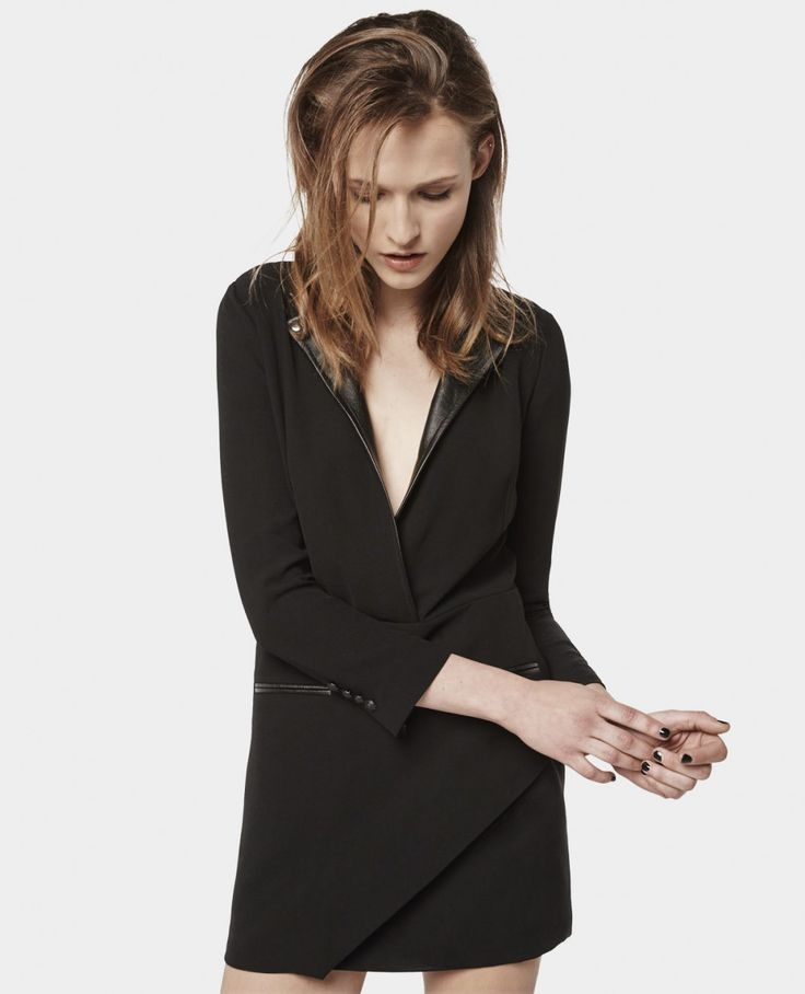Robe structurée à col Biker - Best sellers - Femme - The Kooples