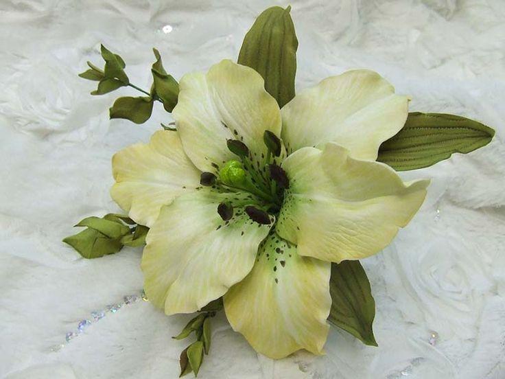 """Выкройка, шаблон  для цветка из фоамирана """"Лилия"""