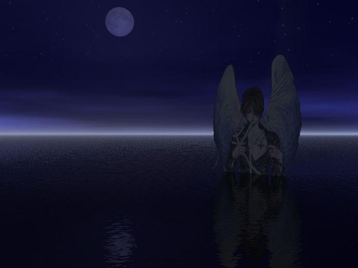 Angel in moonlight wallpaper