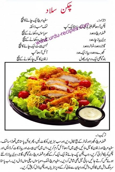 Chicken Salad Recipe in Urdu http://www.urdu-recipes.com/chicken-salad-urdu-recipes.html#Light #chicken #salad #recipe #cranberries