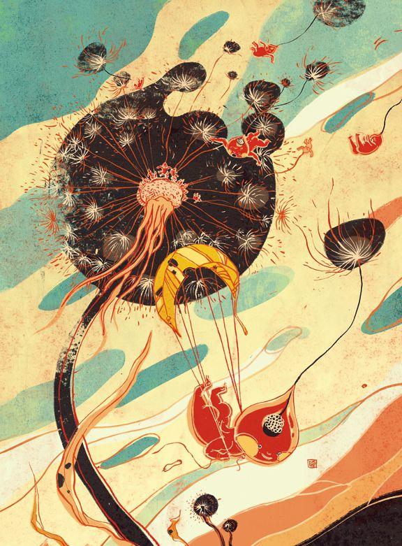 Wonderful Creatures by Victo Ngai, via Behance.  Be Prepared, Plansponsor Magazine