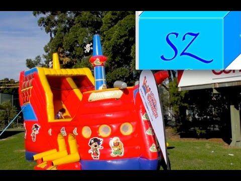 Пиратский корабль для прыгания и лазанья - надувной замок для детей