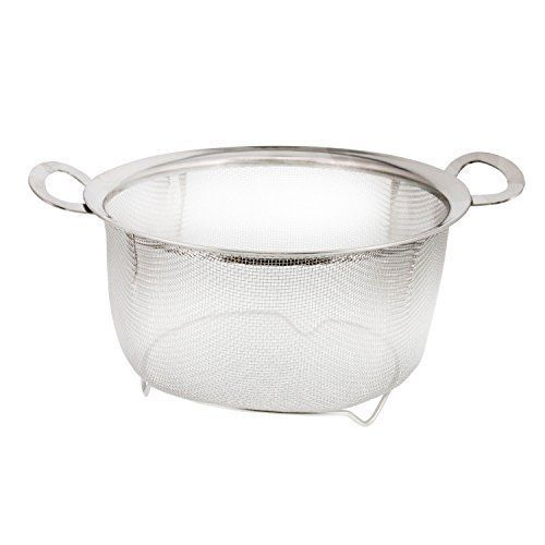 Stainless Steel Mesh Net Strainer Colander Basket With Resting Feet And Handles Uskitchensupply Stainless Steel Mesh Steel Mesh Food Strainer