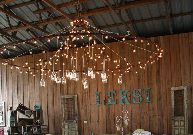 Mason Jar Lighting And Other Rustic Decor As Leksi S