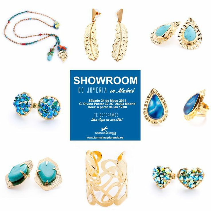 Por los amigos en España! Este sábado 24 de marzo se exponen nuestras joyas en el Showroom de joyería en Madrid!!!Turmalina y Durando,joyas hechas a mano con amor!!!
