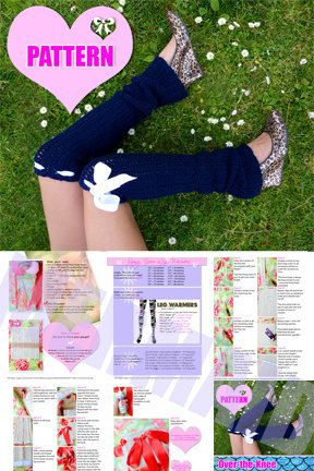 Crochet Leg Warmers Pattern and Tutorial by Mademoiselle Mermaid
