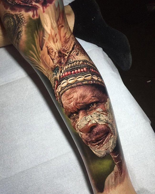 Jungle Man Feather Headdress | Best tattoo ideas & designs