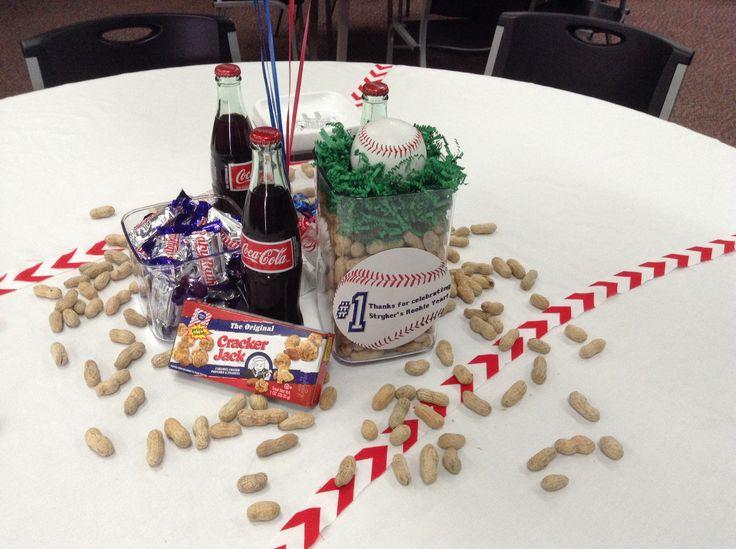 Baseball party Centerpieces | Baseball Birthday Party ...