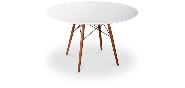 Table DSW 100cm Piètement foncé Charles Eames Style - Bois