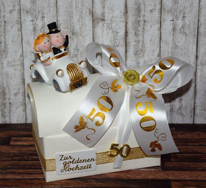 Geldgeschenke Geldgeschenk Zur Goldenen Hochzeit Geschenkbox