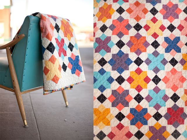 """""""Castle Treasury"""" quilt by Heather of The Quilt Barn. Fantastic color choices!"""