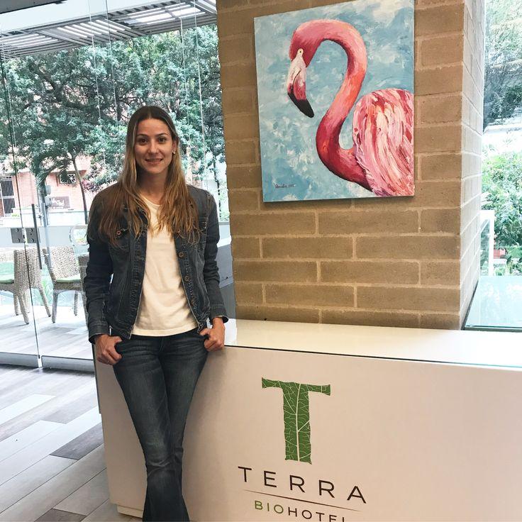Amalia Vallejo, exposición de arte en el Hotel Terra Biohotel. Artista invitada del Mes de noviembre 2017.