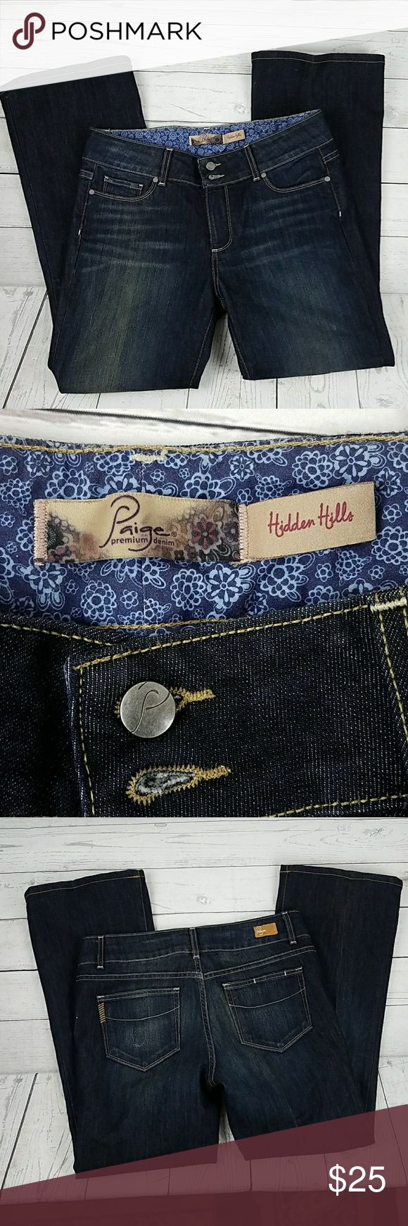 Women's Paige Jean's Boot Cut Size 31 Women's Paige Jean's are in good condition. Gently Worn. Boot Cut Size 31 Inseam 29 Rise 9 Waist 16 inches Paige Jeans Jeans Boot Cut