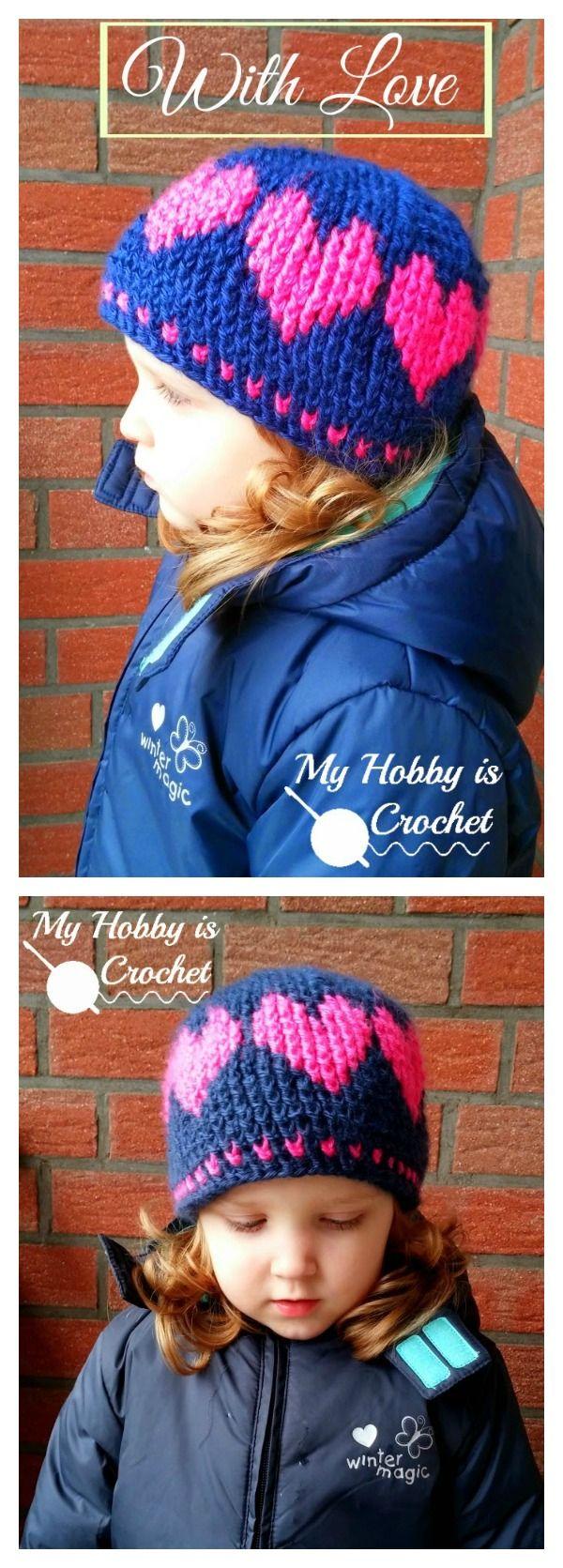 Crochet Heart Hat Free Pattern