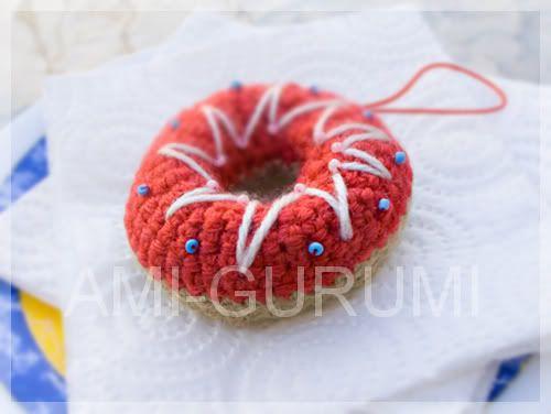 Amigurumi Donut Patron : Donuts Amigurumi - Patron Gratis en Espanol http://ami ...