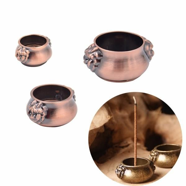 FREE SHIPPING, Copper Incense Holder Incense Smell Removing Lion Aromatherapy Furnace Buddha With 7 Holes 3 Sizes Optional