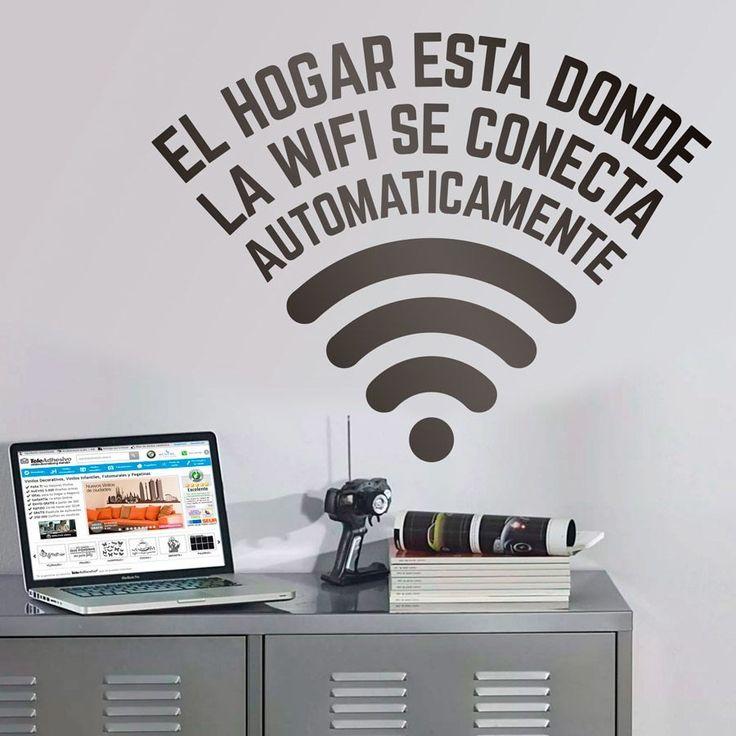 Vinilo decorativo El hogar está donde la wifi se conecta