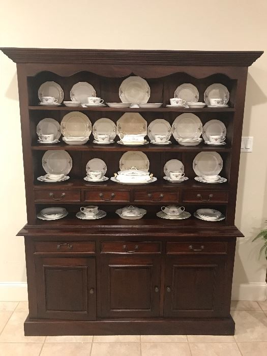 Beautiful Dining Room China Hutch with a complete set of French - Beautiful Dining Rooms